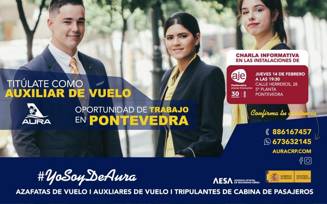 Oportunidad de trabajo en Pontevedra: Titúlate como Auxiliar de Vuelo